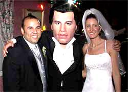Human Bobble Heads travolta